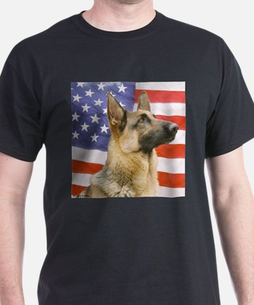 All American Military and Police K9 Ash Grey T-Shi
