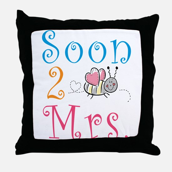Soon 2 Bee Mrs. Throw Pillow