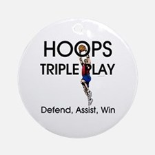 TOP Hoops Triple Play Ornament (Round)