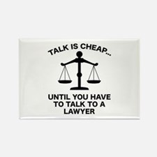 Talk Is Cheap Rectangle Magnet (10 pack)
