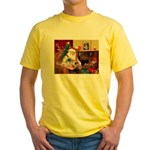 Santa's 2 Pekingese Yellow T-Shirt