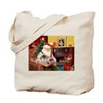 Santa's 2 Pekingese Tote Bag