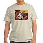 Santa's 2 Pekingese Light T-Shirt