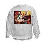 Santa's 2 Pekingese Kids Sweatshirt