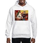 Santa's 2 Pekingese Hooded Sweatshirt