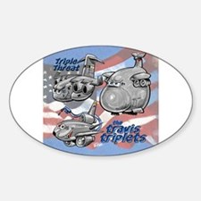 Travis AFB Triplets Oval Decal