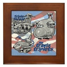 Travis AFB Triplets Framed Tile