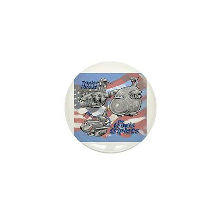 Travis AFB Triplets Mini Button