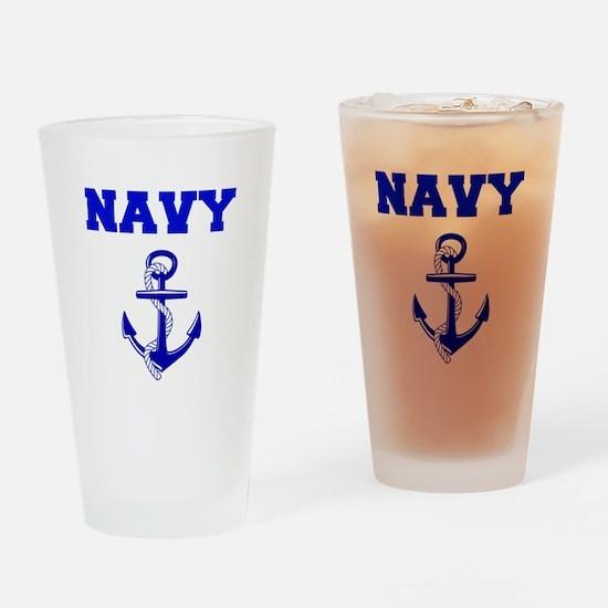 Navy Drinking Glass