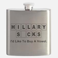 Cute Funny political Flask