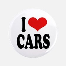 """I Love Cars 3.5"""" Button (100 pack)"""