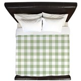 Checked Luxe King Duvet Cover