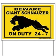 GIANT SCHNAUZER YARD SIGN Yard Sign