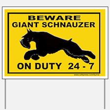 GIANT SCHNAUZER YARD SIGN Yard Sign
