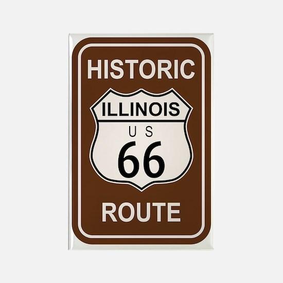 Cute Route 66 illinois Rectangle Magnet