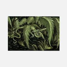 green leaf dragon Magnets