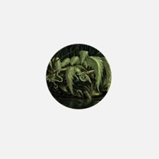 green leaf dragon Mini Button