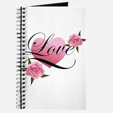 Pink Love Rose Journal