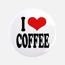 """I Love Coffee 3.5"""" Button (100 pack)"""