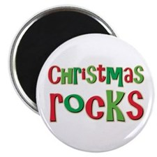 "Christmas Rocks Love Holiday 2.25"" Magnet (10 pack"
