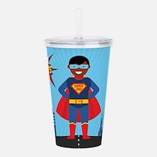 black super dad Acrylic Double-wall Tumbler