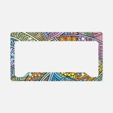 Colorful Abstract License Plate Holder