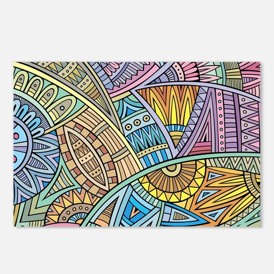 Colorful Abstract Postcards (Package of 8)