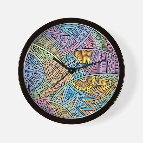 Colorful Abstract Wall Clock