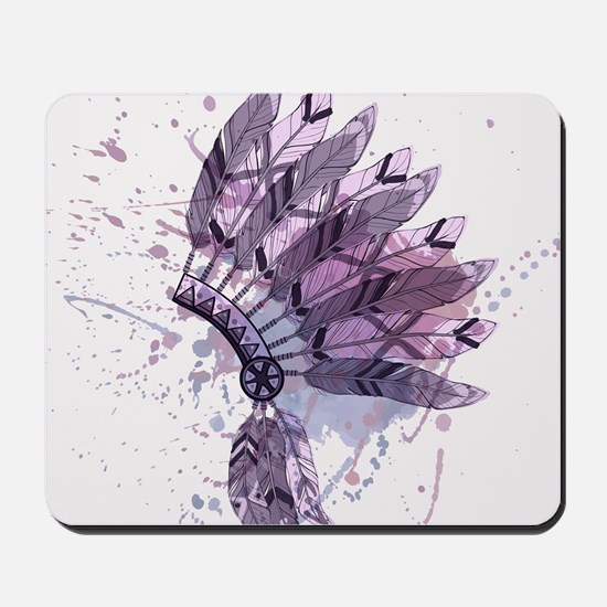 Purple Headdress Mousepad