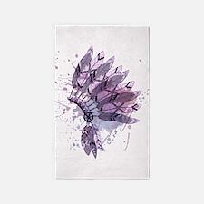 Purple Headdress Area Rug
