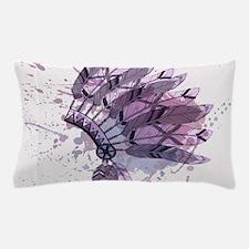 Purple Headdress Pillow Case