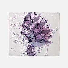 Purple Headdress Throw Blanket