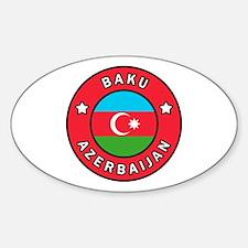 Unique Azerbaycan Sticker (Oval)