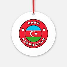 Cute Azerbaijan Round Ornament