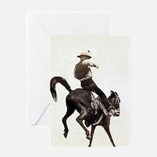 Vintage Rodeo Cowboy Greeting Cards