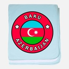 Baku Azerbaijan baby blanket