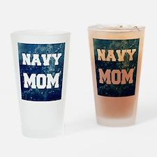 Navy Mom Drinking Glass