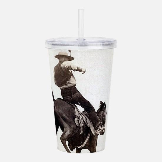 Vintage Rodeo Cowboy Acrylic Double-wall Tumbler