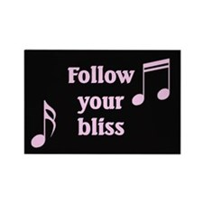 """Follow Your Bliss"" Rectangle Magnet"