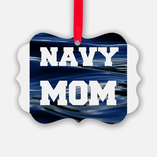 Navy Mom Ornament