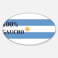 100% gaucho Oval Decal
