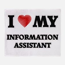 I love my Information Assistant Throw Blanket