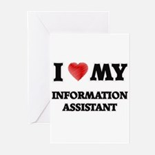 I love my Information Assistant Greeting Cards