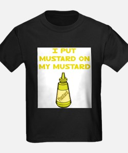 I Put Mustard on My Mustard Ash Grey T-Shirt
