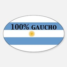 100%gaucho Oval Decal