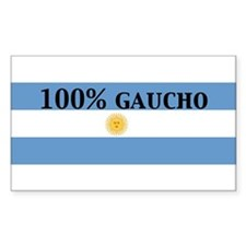 100%gaucho Rectangle Decal