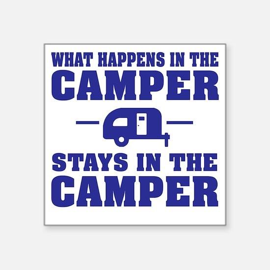 """Unique Funny camping Square Sticker 3"""" x 3"""""""