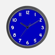 Cobalt Blue and White Wall Clock