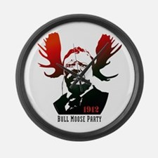 Bull Moose Party Large Wall Clock