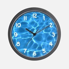 Aqua Blue Swimming Pool Wall Clock